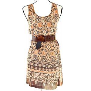John Robshaw for Lucky silk dress brown sz XS